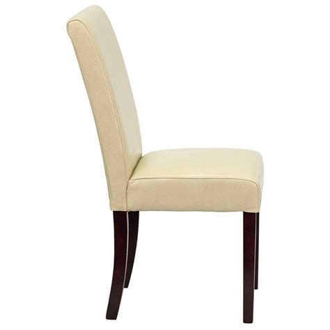Upholstered Parsons Dining Chair In Ivory Bt 350 Ivory Upholstered Parsons Dining Chairs
