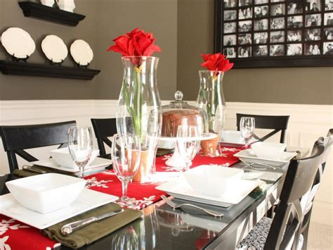 modern unique dining table centerpieces ideas with