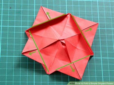 basic origami flower how to fold a simple origami flower 12 steps with pictures