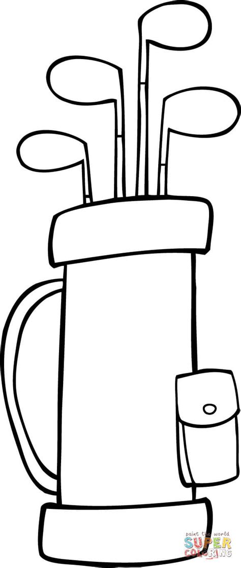golf coloring pages golf bag coloring pages sketch coloring page
