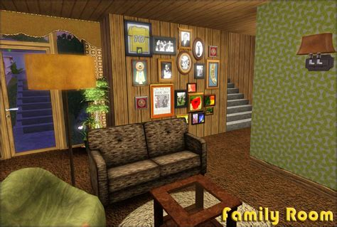mod  sims retro realty  modern family home