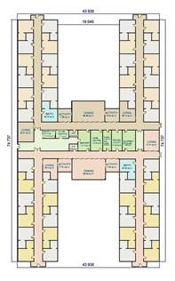 Home Design With Layout W A Benbow 187 Dementia Design H Shape Facility Layout