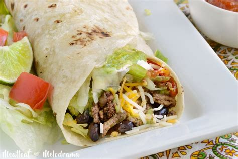 lot of breakfast burritos out there we plan to try a lot of them easy beef and black bean burritos meatloaf and melodrama