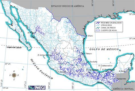 mapa de mexico con rios mapa de rios de mexico