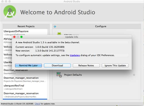 android studio tutorial stackoverflow sdk how to update android studio automatically stack