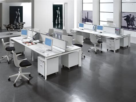 Modern Office Interior Design With Multiple Entity Desk Modern Office Furniture