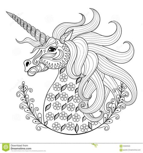 unicorn mandala coloring pages hand drawing unicorn adult anti stress coloring pages