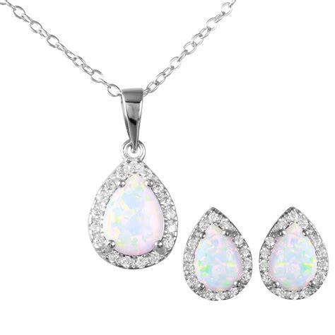 sterling silver cz opal stud earrings sste00963