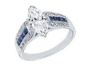 Marquise 2 0 cttw diamond vintage horseshoe engagement ring with blue