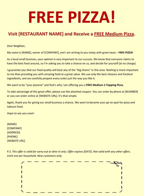 Promotion Letter Restaurant Sales Letter Template Writing Professional Letters