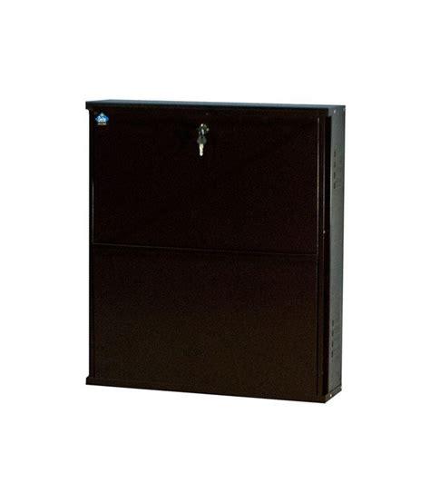 delite kom powder coated 2 door 24 inch steel shoe rack black best deals with price
