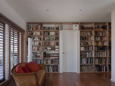 modern home library welcoming modern house with panoramic views in greenwich australia freshome