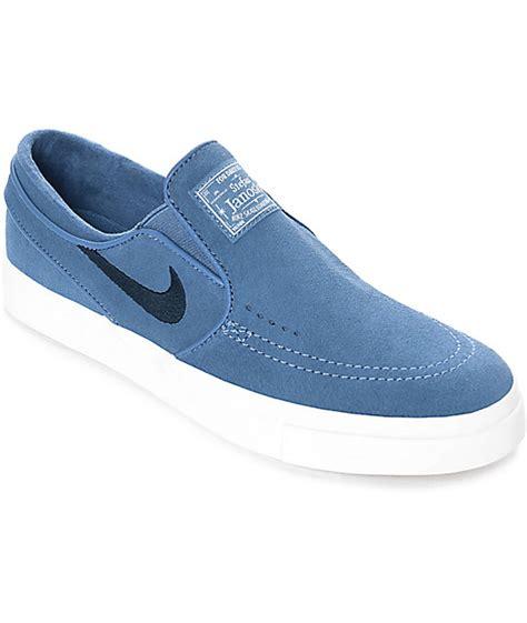 Nike Slip On Suede Nike Sb Janoski Blue Moon Suede Slip On S Skate