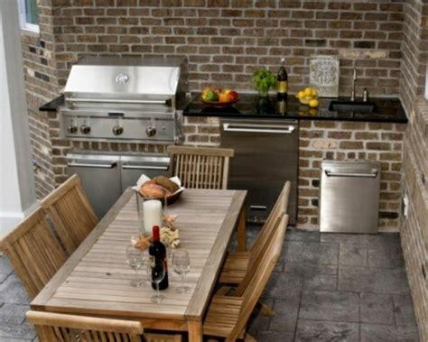 outdoor kitchen designs for small spaces outdoor k 252 chenm 246 bel genie 223 en sie das gute essen in der