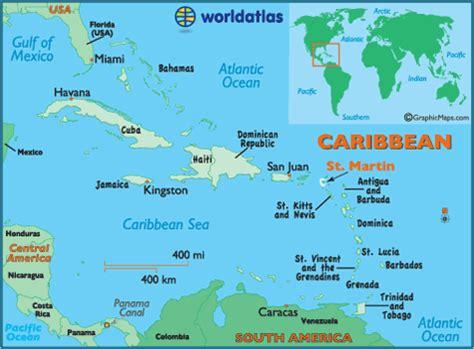 map of caribbean islands st map of martin caribbean island maps martin
