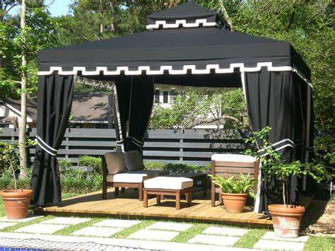 black gazebo custom products