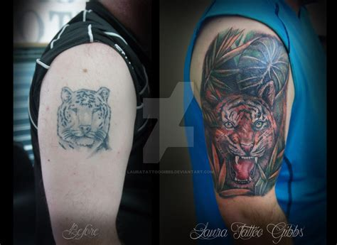 tattoo cover up etiquette tiger tattoo cover up by lauratattoogibbs on deviantart