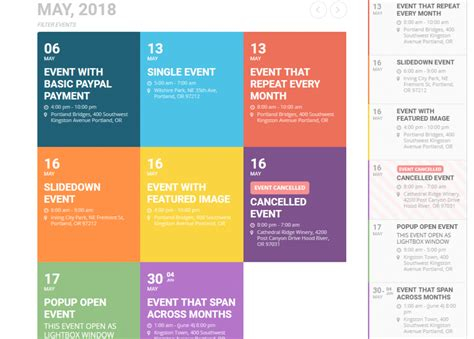 wordpress event plugins calendars lists