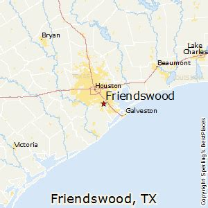 friendswood map best places to live in friendswood