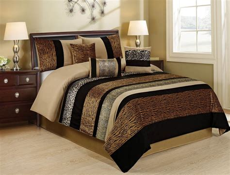 Homechoice 7 Piece Sambar Safari Leopard Tiger Print Safari Bedding