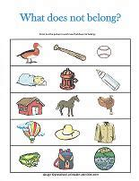What In This Picture Does Not Belong by Printable Worksheets For