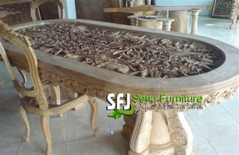 Meja Makan Semarang meja makan ukir relief 3d setia furniture jepara