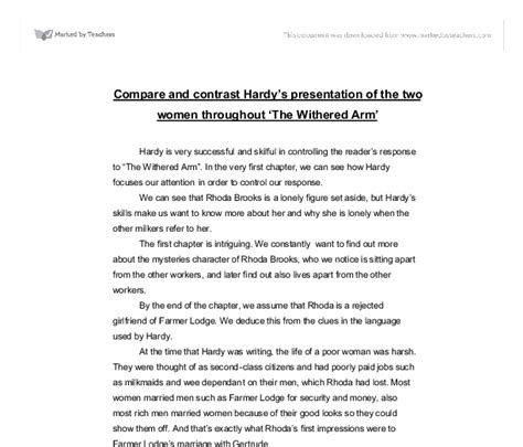 Hardy Essay by Hardy Withered Arm Essay Outrageous Newspaper Articles