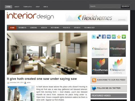 wordpress themes interior design interior design wordpress theme by flexithemes