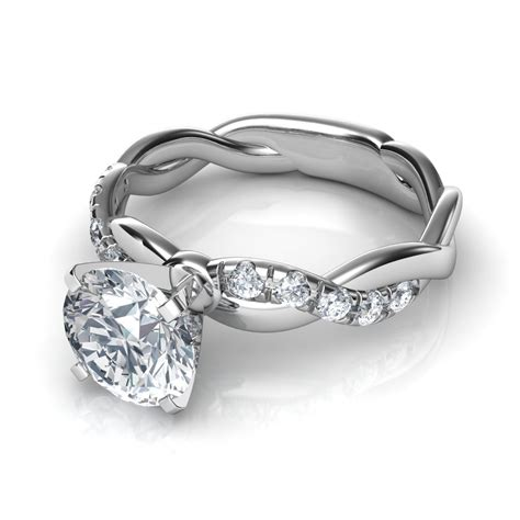 In Engagement Rings by Twist Cut Engagement Ring In Platinum