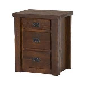 casegoods barnwood 3 drawer nightstand bw24