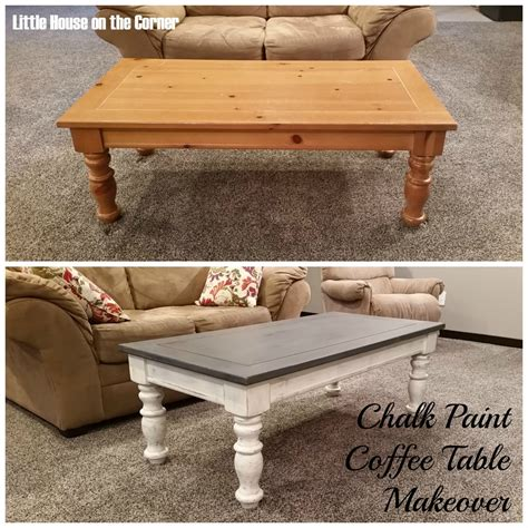 house on the corner chalk paint coffee table makeover