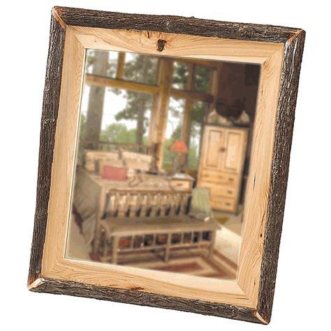 32 x 36 mirror hickory log mirror 32 x 36