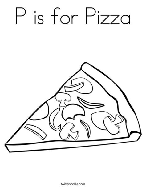 pizza coloring pages preschool p is for pizza coloring page twisty noodle