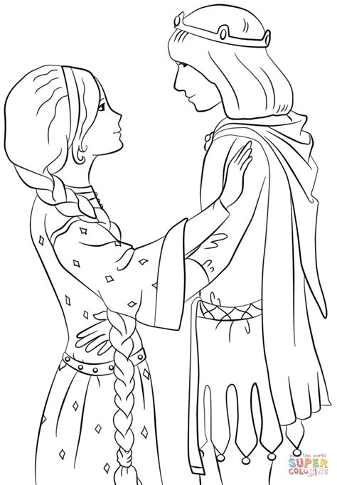 Coloring Page Princess by Princess With Prince Coloring Page Free Printable