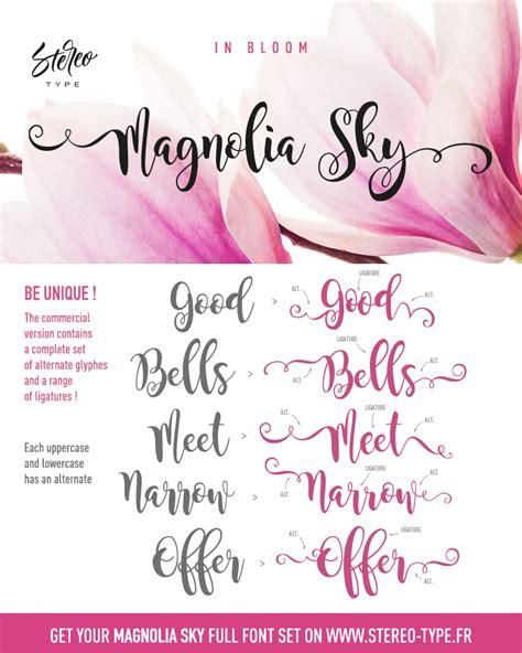 dafont bromello magnolia sky font dafont com