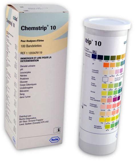 Test Urine 4 chemstrip 174 10 urine test strips 549 11203479119 cura your supply store