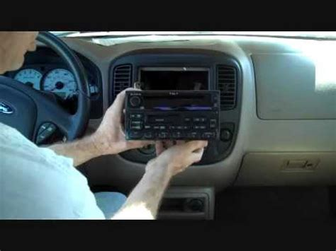 ford escape stereo removal   youtube