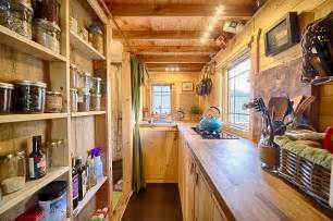 Tiny Home Kitchen Design Mobile Tiny Tack House Is Entirely Built By Hand And