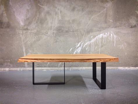 live edge elm coffee table live edge elm coffee table on u form legs
