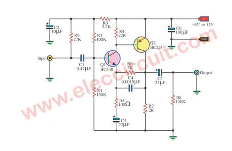 bc548 transistor pin details four prelifier circuits using transistors 28 images four prelifier circuits using
