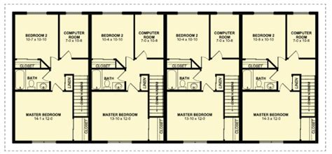 4 plex floor plans four plex with covered entries 67714mg architectural