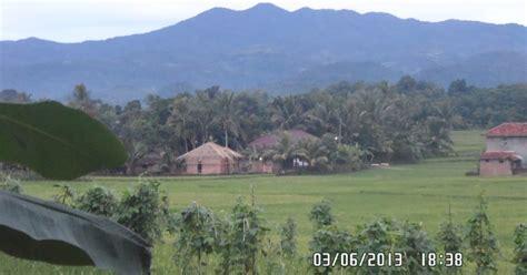 panorama alam pedesaan sekitar ciminyak lebak petir fenomenal