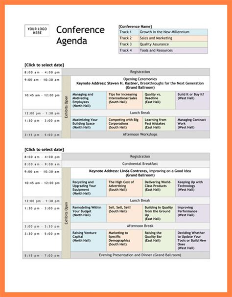conference schedule template 7 conference program templates bussines 2017