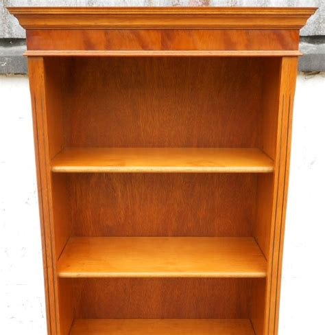 Yew Bookcase yew wood standing open bookcase shelves in the antique georgian style sold