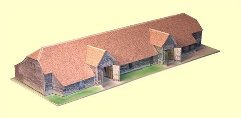scheune auf englisch kostenlose papiermodelle englische scheune