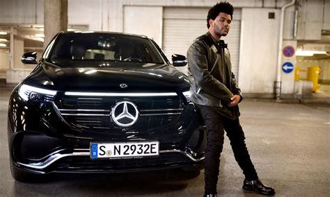 mercedes taps  weeknd  electric car campaign
