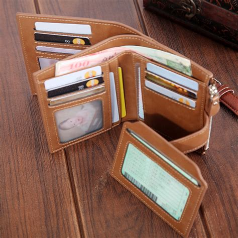 Print Faux Leather Card Holder faux leather retro personalized wallet card holder