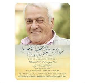 free memorial templates 21 obituary card templates free printable word excel