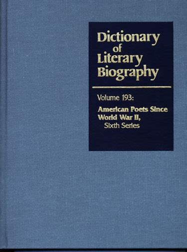 dictionary of literary biography documentary series publications
