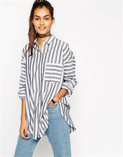 Stripe Oversized Shirt asos oversized stripe shirt at asos